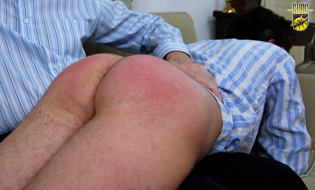 Daddy spanked the boys for drinking hot of
